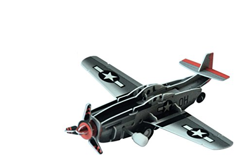 Simba Inoq 3D Moving Set Fighter P-51, Grey