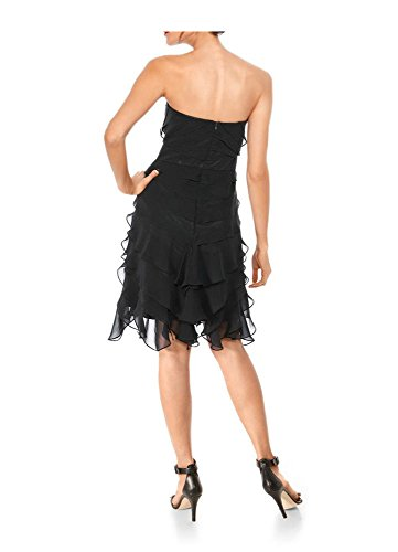 Ashley Brooke event Damen-Kleid Cocktailkleid mit Schal Schwarz Schwarz