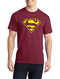 Brown Indian Half Sleeve Round Neck Printed T Shirts For Men