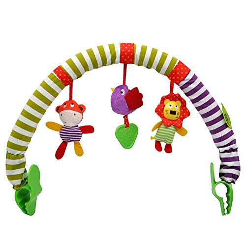 Baby Hanging Bell - Bed Clip Passeggino Ciondolo Lovely Kids Sound Toys Letto Hanging Sonaglio Soft Crib Toy, Cartone animato Crib Music Bed Campanello Projection Toy Hanging Rotating Animal Sonagli