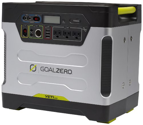 Goalzero 220v Solar Generator International Version Yeti 1250 mit Roll Cart, Silber, 23002