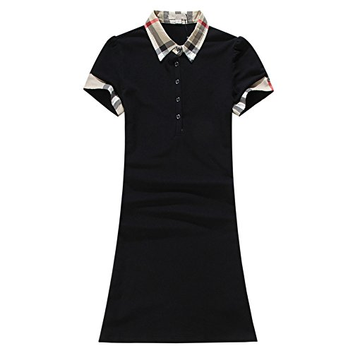 ECTIC 2017 New Women's Donna Casual Dresses skirt Size S-XXL B385742 Black