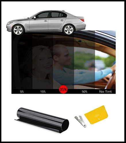 Fenster Tint Getönte Film Kit Smoke Schwarz 35% 76cm x - Getönte Fenster-folie