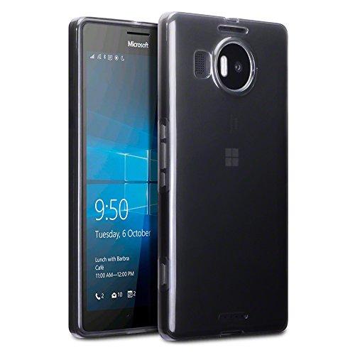 Terrapin TPU Gel Custodia per Microsoft Lumia 950 XL Custodia, Colore: Trasparente Nero - Xl Silicone