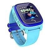 JBC GPS-Telefon Uhr Wasserdicht OHNE Abhörfunktion, für Kinder, SOS Notruf+Telefonfunktion, Live GPS+LBS Positionierung, funktioniert weltweit, Anleitung + App + Support auf deutsch (Blau)