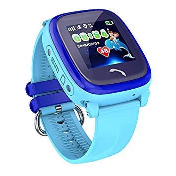 JBC GPS-Telefon Uhr Kleiner Pirat-blau-Wasserdicht OHNE Abhörfunktion, für Kinder, SOS Notruf+Telefonfunktion, Live GPS+LBS Positionierung, funktioniert weltweit, Anleitung+App+Support auf deutsch