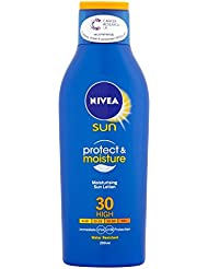 Nivea Moisturising Sun Lotion, High SPF 30, Protect & Moisture, 200 ml