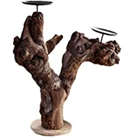 icegrey Decorative albero ramo giardino stile porta candele tealight, Tavolo Stands, Legno, As Picture, 12.87