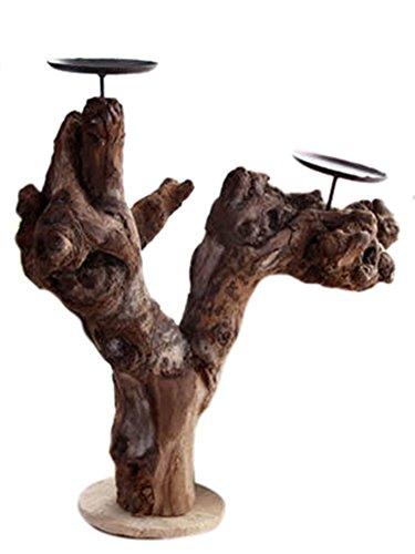 """icegrey Decorative albero ramo giardino stile porta candele tealight, Tavolo Stands, Legno, As Picture, 12.87""""L x 12.87""""W"""