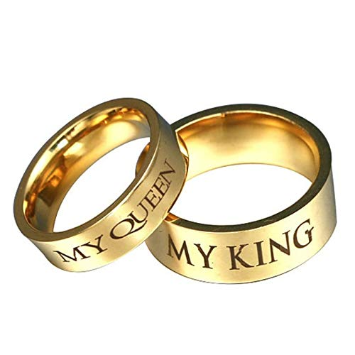 AnazoZ Anillo Acero Inoxidable Mujer MY Queen MY King