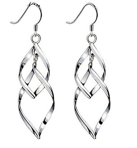 pel Leaves 925 Sterling Silber Quasten Ohrring ()