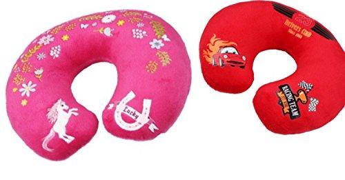 Preisvergleich Produktbild PREMIUM Nackenkissen Nackenhörnchen für Kinder - HÖCHSTE Qualität und kuschelweich Cars / Auto
