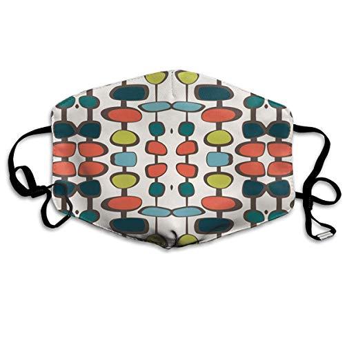 Daawqee Staubschutzmasken, Mid Century Modern Bead Face Masks Breathable Dust Filter Masks Mouth Cover Masks Elastic Ear Loop