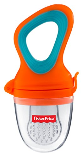 Fisher-Price UltraCare Polyproplene Silicone Food Nibbler (Orange)