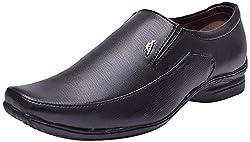 John Karsun Mens Black Synthetic Moccasin Shoes - 8 UK