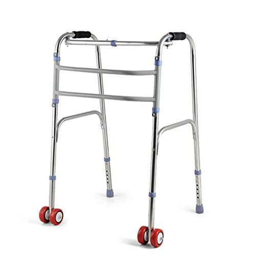 LI JING SHOP - Walker 6 Dateien Anpassung Falten Licht Edelstahl Walking Frame für ältere und kranke 4-Fuß Krücken 55X48X71-81cm ( Farbe : #-002 )