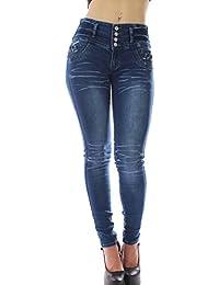 1359 Pantalones mujer push up colombiano, vaquero mujer push up, pantalones elasticos vaqueros,color azul,talla 34-48/XS-3XL