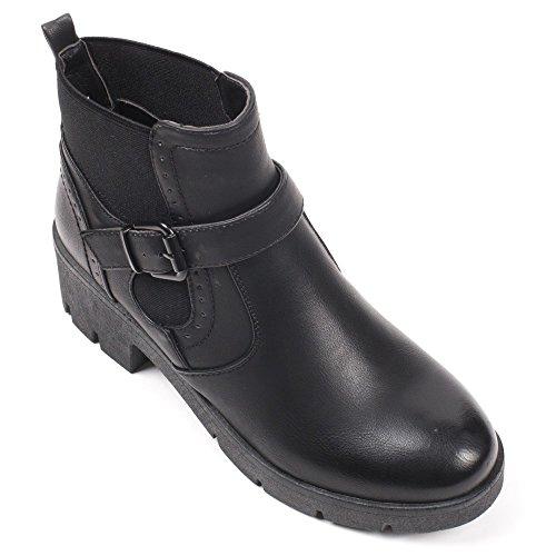 Ankle E Pretas Sapatos Boots Ideais Botas YA1WxS6F