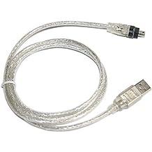 SODIAL(R) Cable de Extension USB 2.0 a IEEE 1394 Firewire 4 Pin 4 Pies para Camara Digital o Videocamara