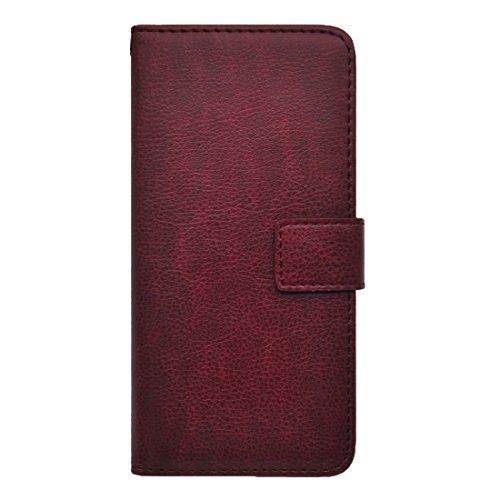 Phone case & Hülle Für iPhone 6 / 6s, Litchi Texture Horizontale Flip PU Ledertasche mit Magnetverschluss & Card Slots & Holder & Wallet ( Color : Wind Red ) Wind Red