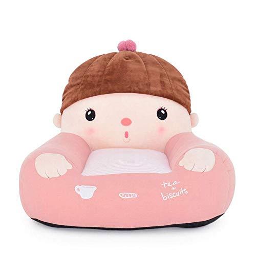 Kinder Sofa, Kindersessel Cartoon Mädchen Mini Couch Sitz, Sitzkissen Entfernbar Mini Sessel,Rosa,W60xH48cm(24x19inch)