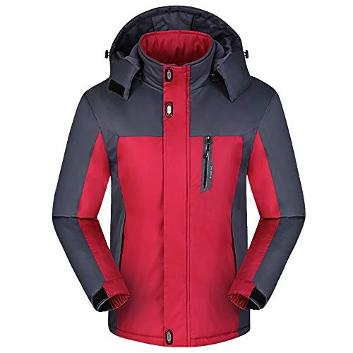 Herren Jacket Air Jacket Winddichte wasserdichte MTB Mountainbike Jacket Visible reflektierend, Fleece Warm Jacket für Herbst, Winter Oversize (Baby-cowboy-stiefel Hut Und)