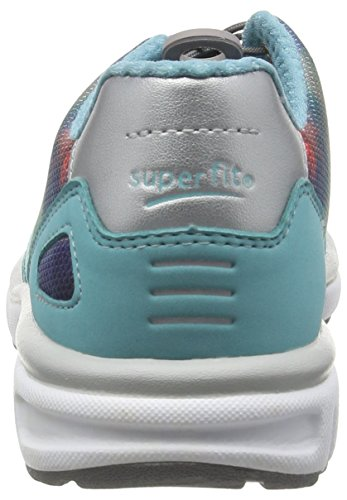 Superfit Mädchen Lumis Low-Top Blau (AQUATIC MULTI 55)