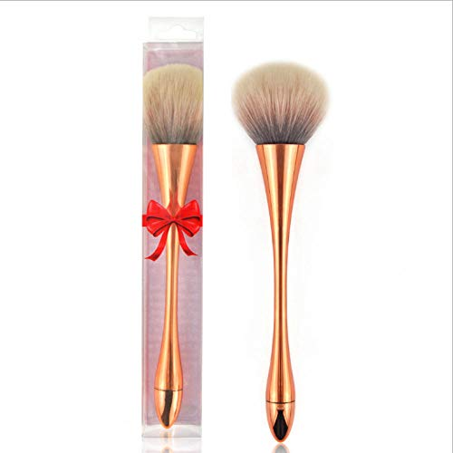Ywtywt Professional Makeup Brush Set Eye Shadow Foundation Background Multifunction Makeup Beauty Tools Advanced Soft Hair Portable Small Waist And Two Water Drop Foundation Cups@Rose Gold Shadow-rose-cup