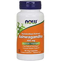 Now Foods | Ashwagandha | 450 mg | 90 cápsulas vegetarianas | sin soya y gluten