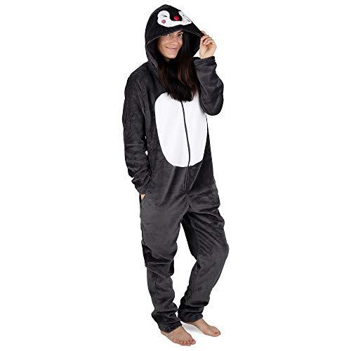 Citycomfort onesies o pigiami da donna con soffici pantofole unicorn womens pjs i pantaloni da pigiama set di regali perfetti per unicorno quest'anno disponibilità limitata (s 8-10, pinguino)