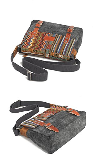 YAAGLE Neu schick Retrotasche Schultertasche national Stil Kuriertasche Freizeit Herren Reisetasche-khaki khaki