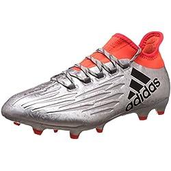 adidas X 16.2 FG, Botas de fútbol para Hombre, Plateado (Plamet/Negbas/Rojsol), 42 2/3 EU