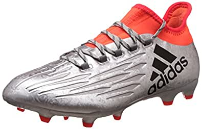 adidas Men's X 16.2 Fg Silver Metallic, Core Black and Solar Red Football Boots - 12 UK/India (47 EU)
