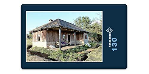 hansepuzzle 79201 Gebäude - Hütte, 130 Teile in hochwertiger Kartonbox, Puzzle-Teile in wiederverschliessbarem Beutel.