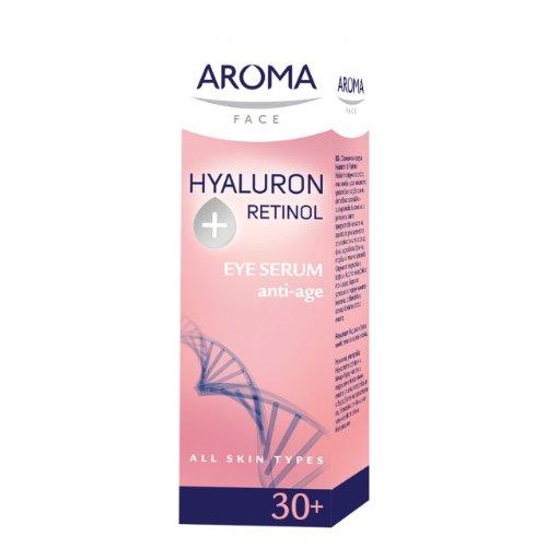 Aroma Visage sérum pour les yeux HYALURON ainsi RÉTINOL 15ml