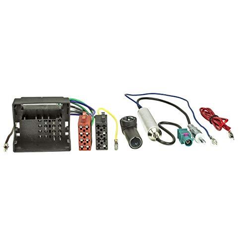 tomzz Audio 7057-006 Radio Adapter Kabel passend für Audi Skoda Seat VW Quadlock auf ISO + Antennenadapter mit Phantomeinspeisung Fakra auf DIN oder ISO