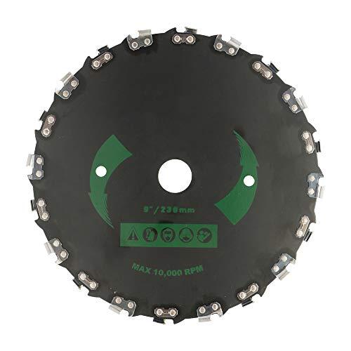 DDELLK Lame de scie en acier, lame de scie circulaire pour travaux intensifs de débroussailleuse, bordure en bois, lames de scie à bois, 20 dents, 10000 tr/min Original