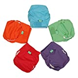 TotsBots Easyfit Star 5 Pack of Solid Mix Reusable Washable Nappies in Size 2