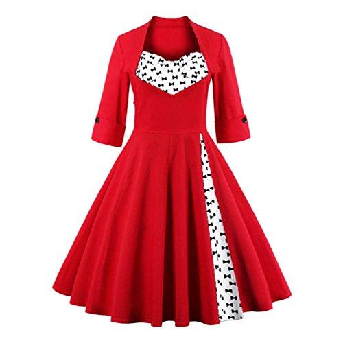 Bluestercool Robe de Soirée, Femmes Robe à Classique Vintage Style 05