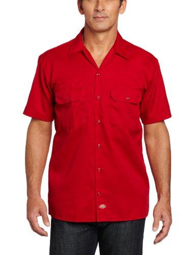 Dickies Herren Regular Fit Freizeithemd English Red