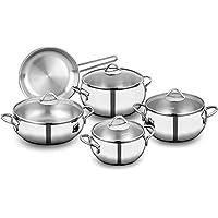 Korkmaz S.Steel Cooking Pot Set 9 Pcs-Turkey,A1800
