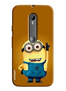 Omanm Printed Minions with Smile and upper hand for Moto G3