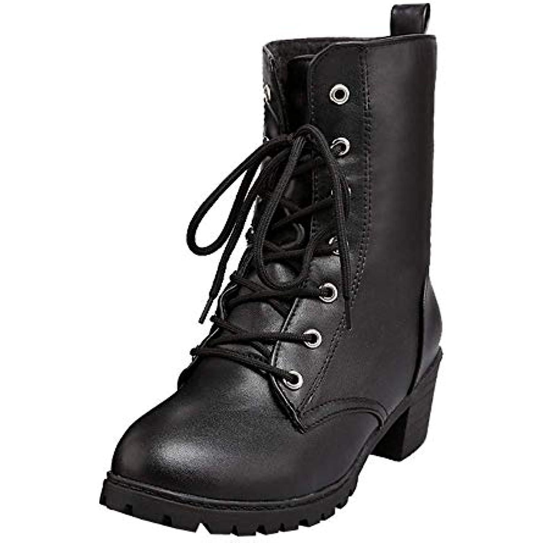 ZHRUI Bottes de d hiver de Bottes Couleur Unie pour Femmes, Chaussures de  Combat a29e9745d180