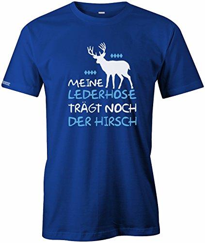 Jayess Meine Lederhose trägt noch der Hirsch - Oktoberfest - Herren T-Shirt in Royalblau by Gr. - Jungen Lederhosen Kostüm