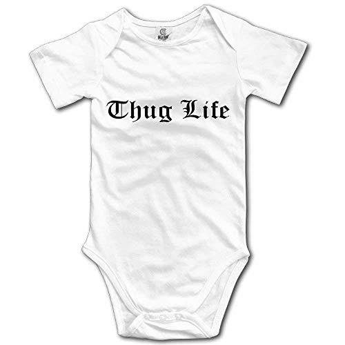 Cute Lion Kind Kostüm - SDGSS Babybekleidung Thug Life Text Graphic Cute Unisex Short Sleeve Climb Baby