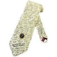Museo artefatti da uomo presidenti firme, taglia unica–beige–Cravatta