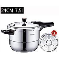 AA-SS Olla de presión 304 Acero Inoxidable Olla de presión hogar Cocina de inducción Gas 2-3-4-5-6 Personas 24cm / 7.5L