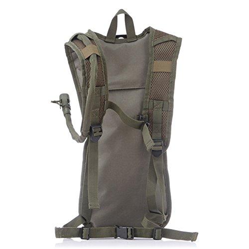 etach 2.5L Outdoor Sport Militär Fans Wasserdicht Liner Water Bag Rucksack für Radfahren Camping Klettern armee-grün