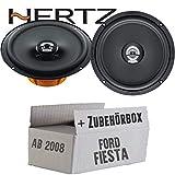 Hertz DCX 165.3-16cm Koax Lautsprecher - Einbauset für Ford Fiesta MK7 Front Heck - JUST SOUND best choice for caraudio