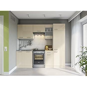 Eldorado möbel küche martha 240 creamelack küchenzeile küchenblock einbauküche komplettküche